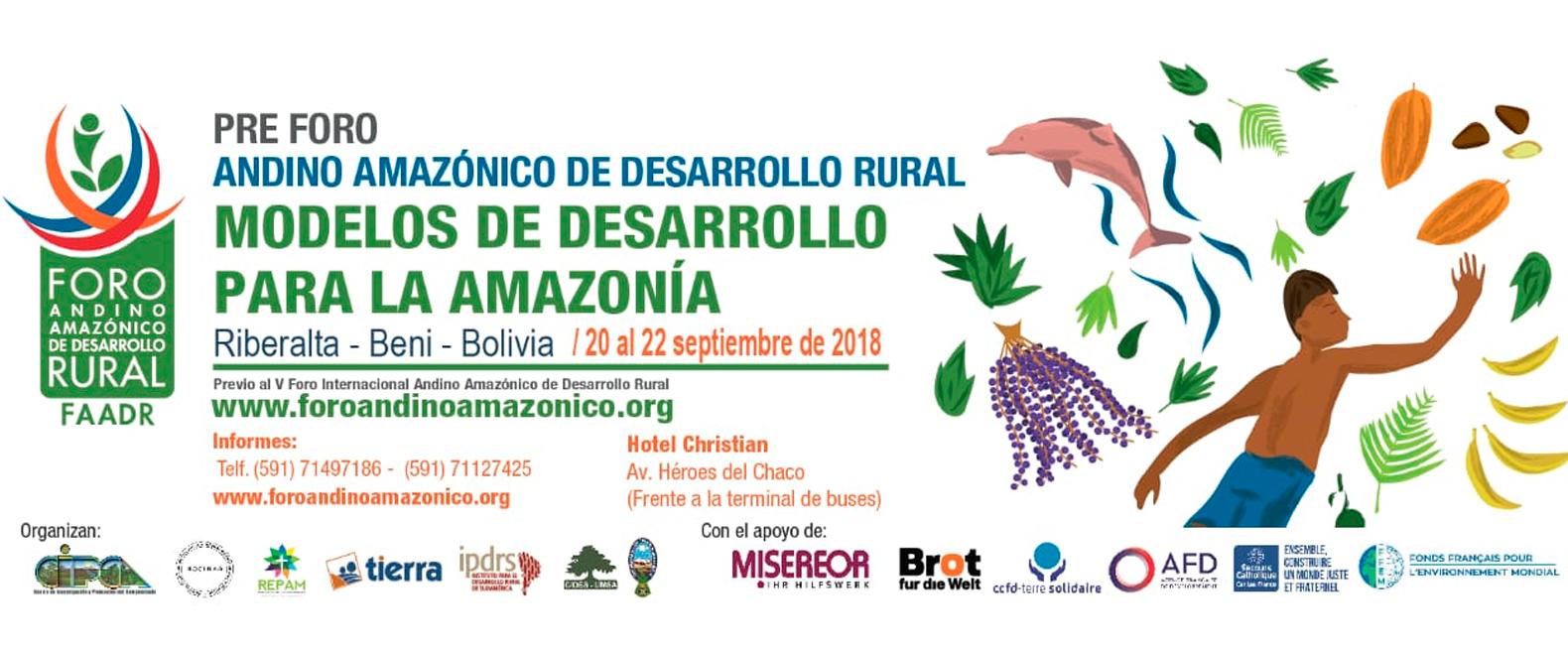PRE FORO ANDINO AMAZÓNICO DE DESARROLLO RURAL