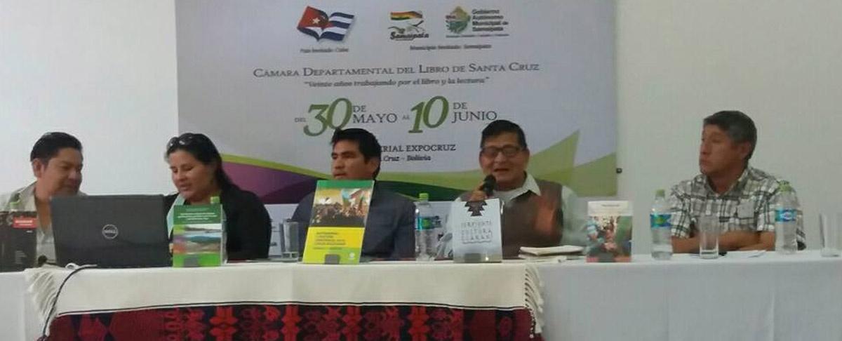"""En la XIX Feria Internacional del Libro de Santa Cruz se presentaron los """"Libros del Chaco"""" para visibilizar la realidad de la región"""