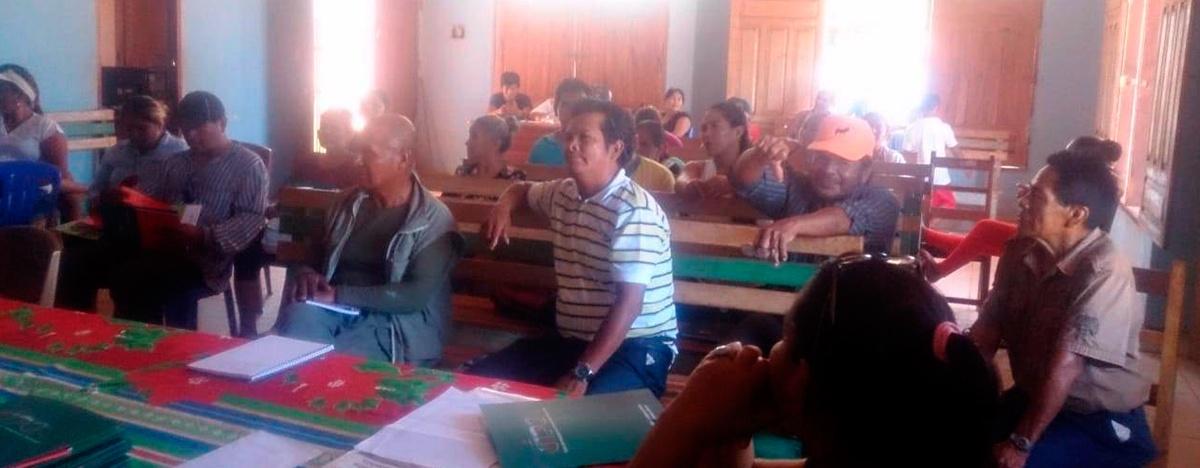 Zafreros de la castaña participaron del módulo de formación sobre historia y contexto de los trabajadores asalariados del campo