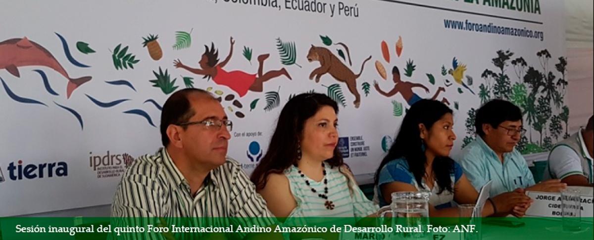 Foro internacional advierte que son más las amenazas que las oportunidades en la Amazonía
