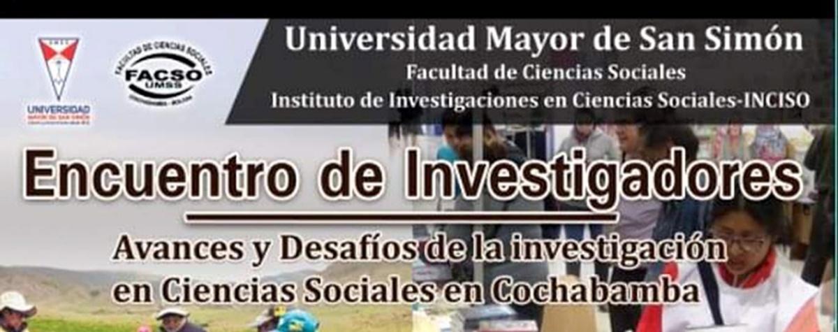 Centros de investigación promueven un Encuentro de investigadores en Ciencias Sociales en Cochabamba
