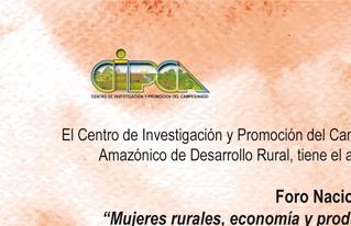 Se realizará Foro nacional sobre mujeres rurales, economía y producción campesina indígena