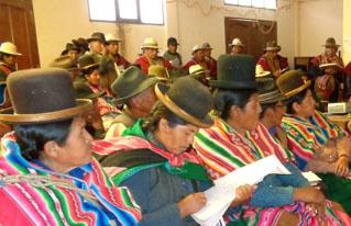 Provincia Aroma inició proceso de construcción de su plan de desarrollo agropecuario