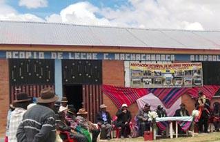 Productoras lecheras del municipio de Colquencha inauguran nueva infraestructura para la producción de lácteos
