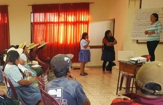 Mujeres y hombres de Norte Potosí y Cochabamba se formaron en liderazgo e incidencia política con componente de género