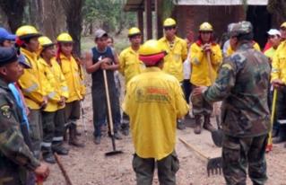 Curso de prevención de incendios forestales reunió a bomberos tradicionales e indígenas