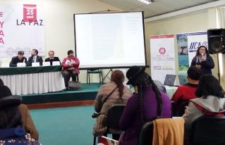 CIPCA presentó datos del estudio de Ingresos Familiares Anuales de campesinos e indígenas rurales en pre cumbre de la Micro y Pequeña Empresa