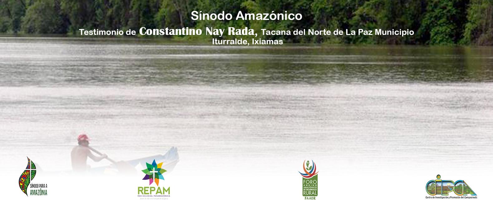 Sínodo Amazónico - Constantino Nay Rada