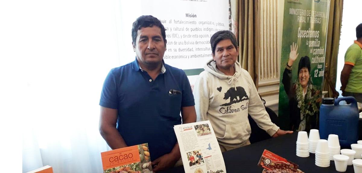 Productores de la APARAB ganadores del Cocoa Awards Internacional participaron del lanzamiento del torneo de cacaos especiales de Bolivia