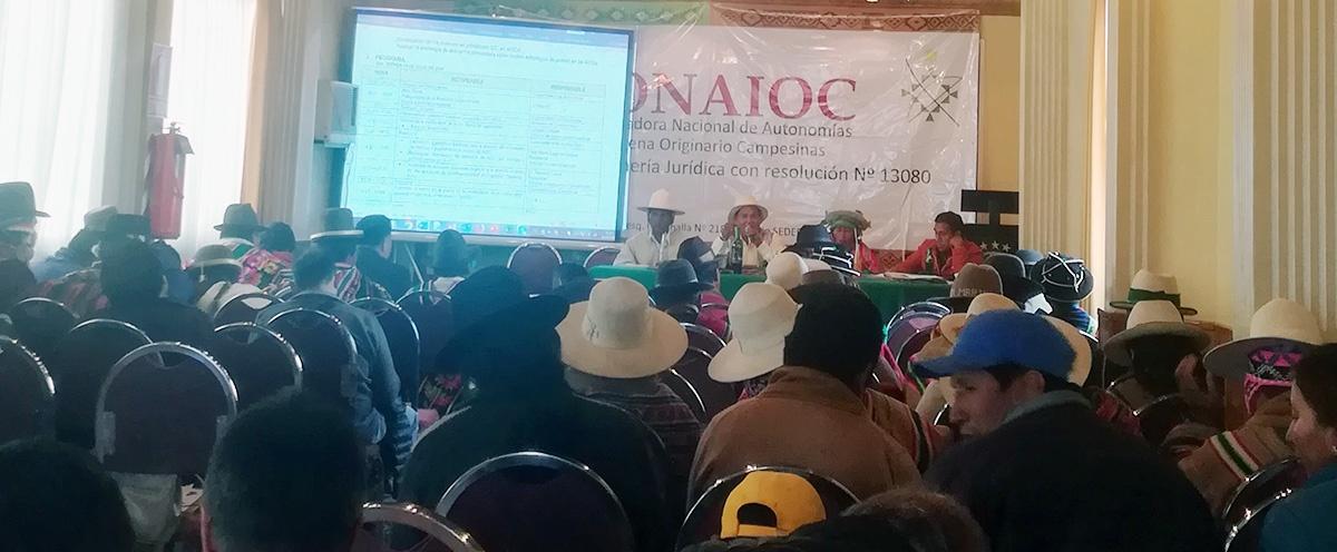 CONAIOC analizó acciones y estrategias en el marco de la promulgación de la Ley Modificatoria a la Ley de Autonomías