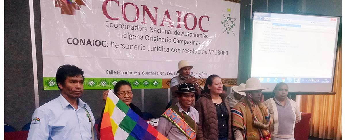 CONAIOC renovó su directiva con el desafío de fortalecer las autonomías indígenas y la gestión pública intercultural en el país