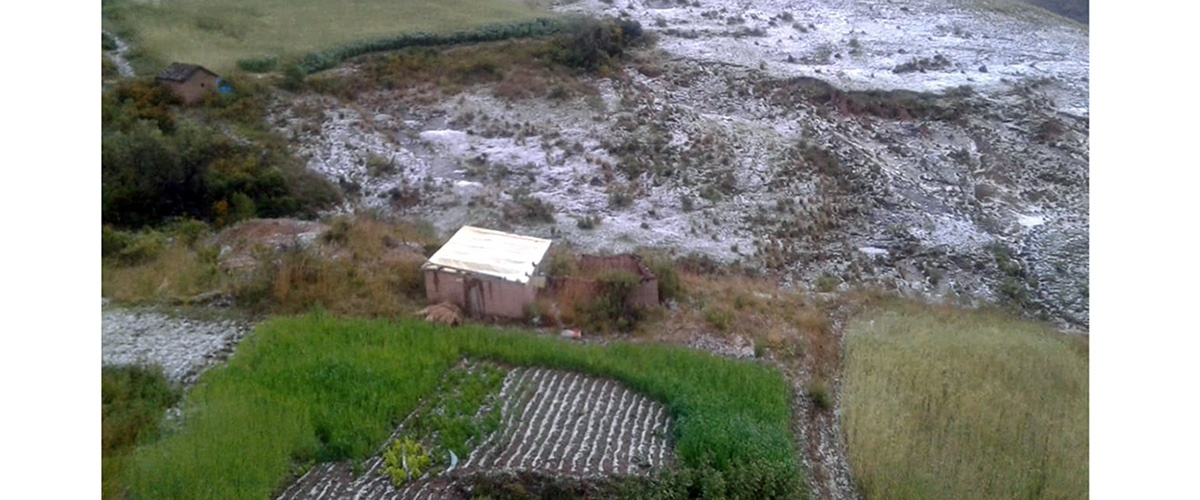 Granizada pone en riesgo la seguridad alimentaria de algunas comunidades del municipio de Acasio