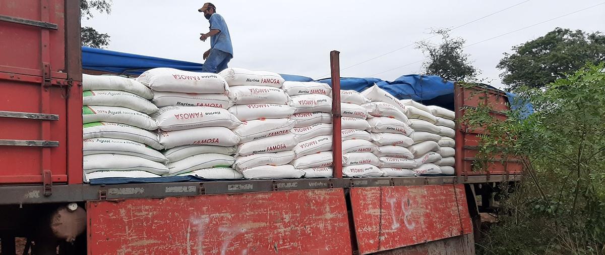 Comunidades indígenas chiquitanas del municipio de Lomerío reciben ayuda humanitaria