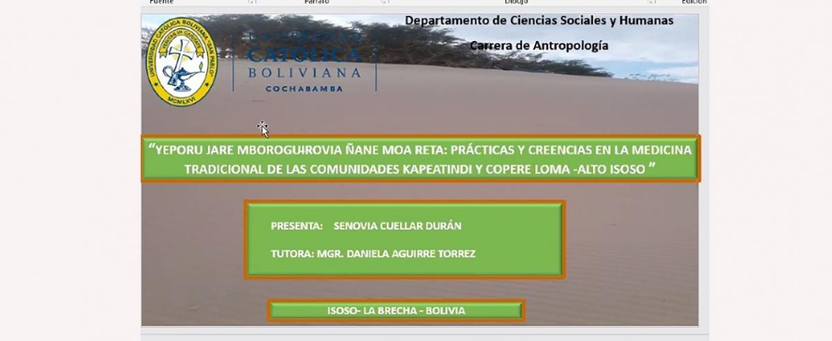 Estudiante guaraní marca hito al defender su tesis de grado en la UCB de forma bilingüe y virtual