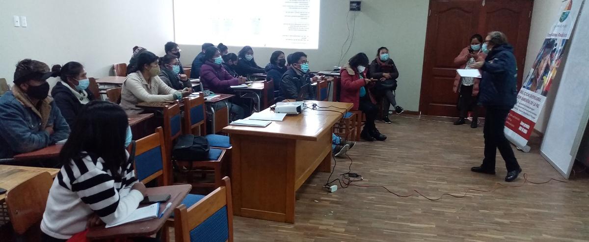 Jóvenes rurales y urbanos del altiplano se forman como facilitadores comunitarios a nivel de  Técnico Auxiliar.