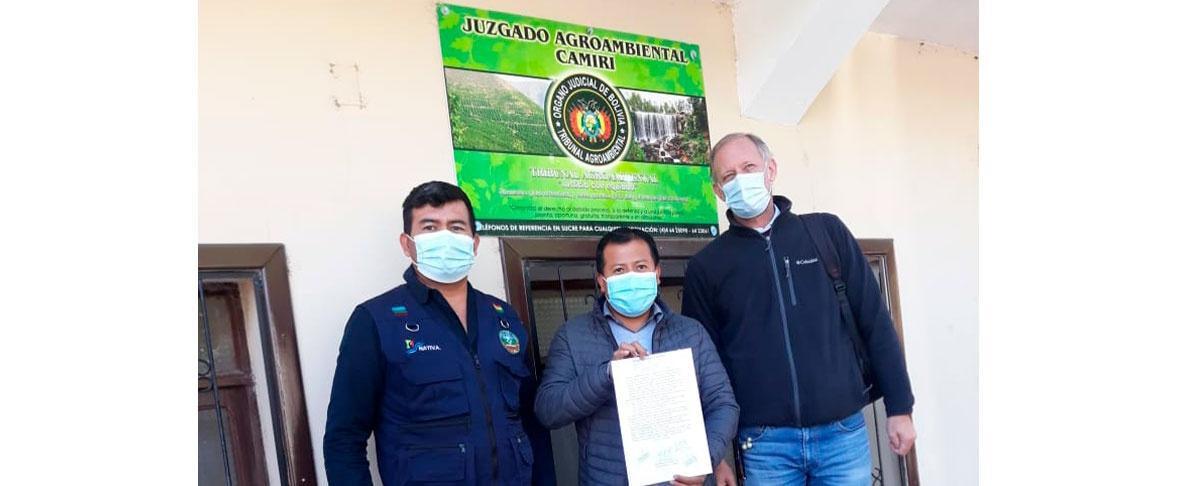 El GAIOC de Charagua Iyambae demanda al INRA y la ABT ante el tribunal agro ambiental.