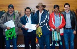 """Capitanías de Kaaguasu y Gran Kaipependi Karovaicho presentaron su Estatuto Autonómico Indígena Guaraní """"Kereimba Iyaambae"""" al Tribunal Constitucional Plurinacional en Sucre"""