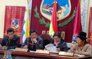 Asamblea Departamental de Oruro elaboró su Agenda Legislativa estratégica