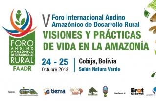 Foro internacional analizará potencialidades y riesgos que enfrenta la Amazonía