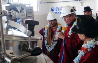 Planta de lácteos de la asociación Chambi Taraco se moderniza