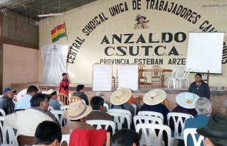 Productores de Anzaldo plantaeron propuestas para fortalecer la agricultura familiar campesina