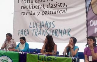 CIPCA socializó investigación sobre aporte económico de las mujeres en la Cumbre de los Pueblos  y la Carpa de las Mujeres en Chile
