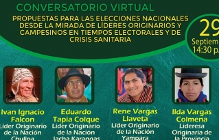 Líderes indígenas plantean propuestas para programas de gobierno de las organizaciones políticas