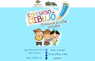 Niñas y niños expresan sus derechos a través de dibujos, en el municipio de San Pedro de Totora