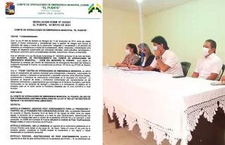 Ante tercera ola de COVID-19, municipios cruceños refuerzan medidas sanitarias y establecen consensos y acuerdos