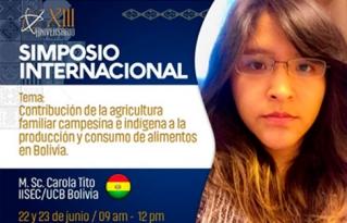 """La investigación """"Contribución de la agricultura familia campesina indígena la producción y consumo de alimento en Bolivia"""" se presentó en el Simposio Internacional organizado por el INIAF"""