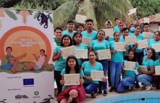 Jóvenes del Beni se capacitan para el ejercicio de sus derechos y comparten sus experiencias para el cuidado del medio ambiente.
