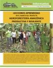 Lecciones Aprendidas en el marco del proyecto Agroforestería Amazónica Productiva y Resiliente